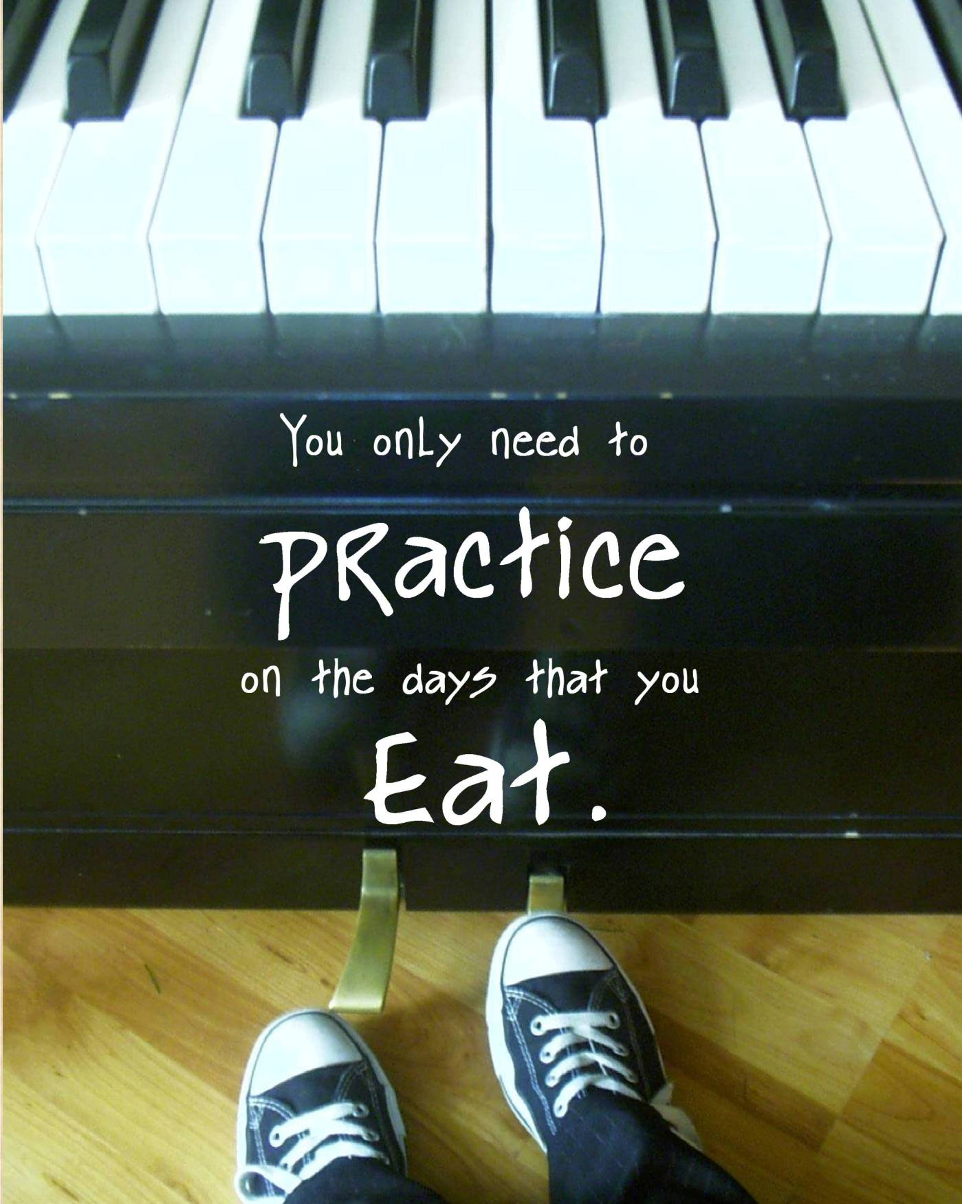 Practice on the days you eat